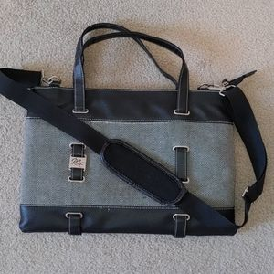 Me For Her- Laptop Bag. Black Faux Leather trim/